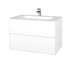 Dreja - Kúpeľňová skriňa VARIANTE SZZ2 80 - N01 Bílá lesk / M01 Bílá mat (268831)