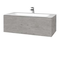 Dreja - Kúpeľňová skriňa VARIANTE SZZ 100 - D01 Beton / D01 Beton (268985)