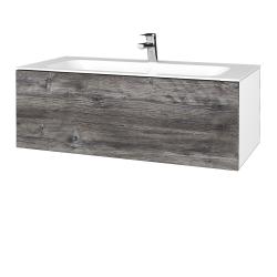 Dreja - Kúpeľňová skriňa VARIANTE SZZ 100 - N01 Bílá lesk / D10 Borovice Jackson (269265)