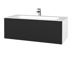 Dreja - Kúpeľňová skriňa VARIANTE SZZ 100 - N01 Bílá lesk / L03 Antracit vysoký lesk (269333)