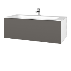 Dreja - Kúpeľňová skriňa VARIANTE SZZ 100 - N01 Bílá lesk / N06 Lava (269364)