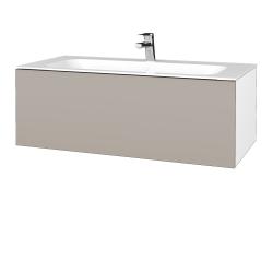 Dreja - Kúpeľňová skriňa VARIANTE SZZ 100 - N01 Bílá lesk / N07 Stone (269371)