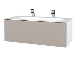 Dreja - Kúpeľňová skrinka VARIANTE SZZ 100 - N01 Bílá lesk / N07 Stone (269371U)