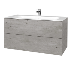 Dreja - Kúpeľňová skriňa VARIANTE SZZ2 100 - D01 Beton / D01 Beton (269456)