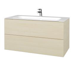 Dreja - Kúpeľňová skriňa VARIANTE SZZ2 100 - D02 Bříza / D02 Bříza (269463)