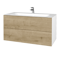 Dreja - Kúpeľňová skriňa VARIANTE SZZ2 100 - N01 Bílá lesk / D09 Arlington (269722)