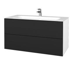 Dreja - Kúpeľňová skriňa VARIANTE SZZ2 100 - N01 Bílá lesk / L03 Antracit vysoký lesk (269807)