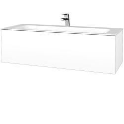 Dreja - Kúpeľňová skrinka VARIANTE SZZ 120 - N01 Bílá lesk / M01 Bílá mat (270247)