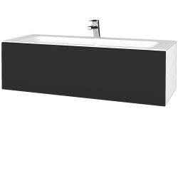Dreja - Kúpeľňová skriňa VARIANTE SZZ 120 - N01 Bílá lesk / N03 Graphite (270292)