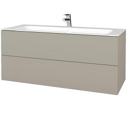 Dreja - Kúpeľňová skrinka VARIANTE SZZ2 120 - L04 Béžová vysoký lesk / L04 Béžová vysoký lesk (270551)