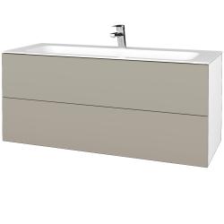 Dreja - Kúpeľňová skrinka VARIANTE SZZ2 120 - N01 Bílá lesk / L04 Béžová vysoký lesk (270759)