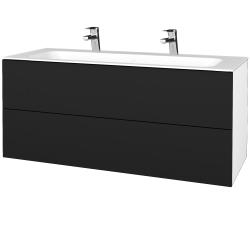 Dreja - Kúpeľňová skrinka VARIANTE SZZ2 120 - N01 Bílá lesk / N08 Cosmo (270797U)