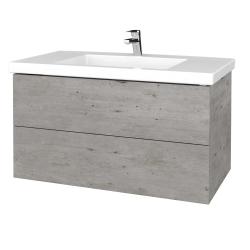 Dreja - Kúpeľňová skrinka VARIANTE SZZ2 100 - D01 Beton / D01 Beton (275082)