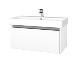 Dreja - Kúpeľňová skriňa BONO SZZ 85 - N01 Bílá lesk / N09 Bílá mat (277635)