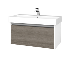 Dreja - Kúpeľňová skriňa BONO SZZ 85 - N01 Bílá lesk / D03 Cafe (277642)
