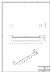 NOVASERVIS - Dvojitý držiak uterákov 600 mm Metalia 1 chróm (6125,0), fotografie 6/3