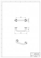 NOVASERVIS - Madlo 250 mm Metalia 1 chróm (6132,0), fotografie 6/3