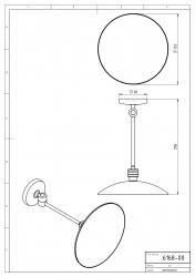 NOVASERVIS - Kozmetické zrkadlo zväčšovacie Metalia 1 chróm (6168,0), fotografie 4/2