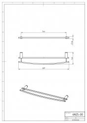 NOVASERVIS - Dvojitý držiak uterákov 600 mm Metalia 2 chróm (6225,0), fotografie 4/2
