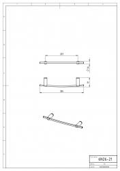 NOVASERVIS - Držiak uterákov 400 mm Metalia 2 chróm (6226,0), fotografie 4/2