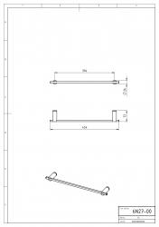 NOVASERVIS - Držiak uterákov 450 mm Metalia 2 chróm (6227,0), fotografie 4/2