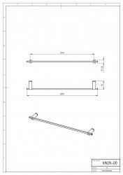 NOVASERVIS - Držiak uterákov 600 mm Metalia 2 chróm (6228,0), fotografie 4/2