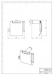 NOVASERVIS - Záves toaletného papiera s krytom Metalia 2 chróm (6238,0), fotografie 4/2