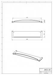NOVASERVIS - Polička so zábradlím Metalia 2 chróm (6253,0), fotografie 4/2
