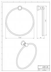NOVASERVIS - Kruhový držiak uterákov Metalia 3 chróm (6301,0), fotografie 6/3
