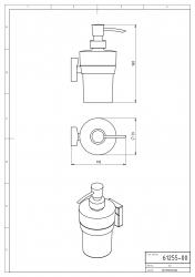 NOVASERVIS - Dávkovač mydla Metalia 12 chróm (0255,0), fotografie 4/2