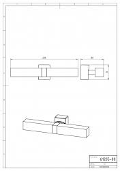 NOVASERVIS - Dvojité kúpeľňové svetlo hranaté chróm (0205,0), fotografie 4/2