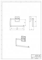 NOVASERVIS - Záves toaletného papiera Metalia 12 chróm (0231,0), fotografie 4/2