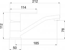 NOVASERVIS - Umývadlová drezová batéria Titania Fresh chróm (96096,0), fotografie 4/2