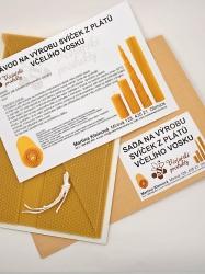 KOUPELNYMOST - Sada na výrobu sviečok z plátov včelieho vosku-026 (VOSK-0026)