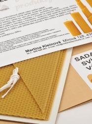KOUPELNYMOST - Sada na výrobu sviečok z plátov včelieho vosku-026 (VOSK-0026), fotografie 4/3