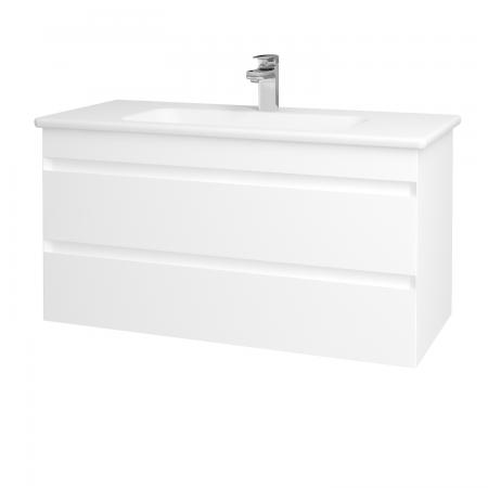 Dreja - Kúpeľňová skriňa MAJESTY SZZ2 100 - L01 Bílá vysoký lesk / L01 Bílá vysoký lesk (120344)