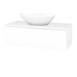 Dreja - Kúpeľňová skriňa INVENCE SZZ 100 (umývadlo Triumph) - L01 Bílá vysoký lesk / L01 Bílá vysoký lesk (184049)