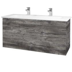 Dreja - Kúpeľňová skriňa GIO SZZ2 120 - D10 Borovice Jackson / Úchytka T02 / D10 Borovice Jackson (130114BU)