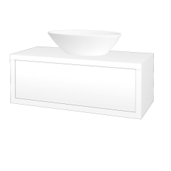 Dreja - Kúpeľňová skriňa STORM SZZ 100 (umývadlo Triumph) - L01 Bílá vysoký lesk / L01 Bílá vysoký lesk (168063)