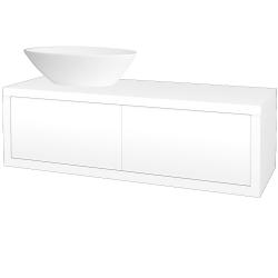Dreja - Kúpeľňová skriňa STORM SZZ2 120 (umývadlo Triumph) - L01 Bílá vysoký lesk / L01 Bílá vysoký lesk / Levé (169145)