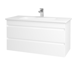 Dreja - Kúpeľňová skriňa MAJESTY SZZ2 100 - M01 Bílá mat / M01 Bílá mat (175634)