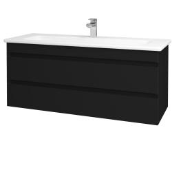 Dreja - Kúpeľňová skriňa MAJESTY SZZ2 120 - M03 Černá mat / M03 Černá mat (175740)