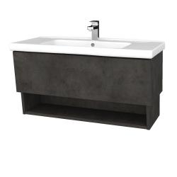 Dreja - Kúpeľňová skriňa INVENCE SZZO 100 (umývadlo Harmonia) - D16  Beton tmavý / D16 Beton tmavý (180225)