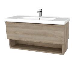 Dreja - Kúpeľňová skriňa INVENCE SZZO 100 (umývadlo Harmonia) - D17 Colorado / D17 Colorado (180232)