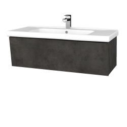 Dreja - Kúpeľňová skriňa INVENCE SZZ 100 (umývadlo Harmonia) - D16  Beton tmavý / D16 Beton tmavý (180393)