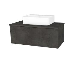 Dreja - Kúpeľňová skriňa INVENCE SZZ 80 (umývadlo Joy 3) - D16  Beton tmavý / D16 Beton tmavý (180973)