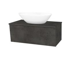 Dreja - Kúpeľňová skriňa INVENCE SZZ 80 (umývadlo Triumph) - D16  Beton tmavý / D16 Beton tmavý (181550)