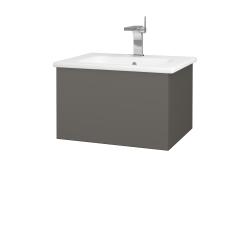 Dreja - Kúpeľňová skriňa VARIANTE SZZ 60 (umývadlo Euphoria) - N06 Lava / N06 Lava (188405)