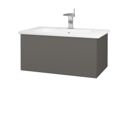 Dreja - Kúpeľňová skriňa VARIANTE SZZ 80 (umývadlo Euphoria) - N06 Lava / N06 Lava (188825)