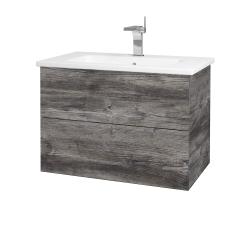 Dreja - Kúpeľňová skriňa VARIANTE SZZ2 80 (umývadlo Euphoria) - D10 Borovice Jackson / D10 Borovice Jackson (188856)